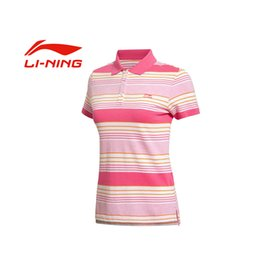 Wholesale Polo Original - Wholesale-100% Original 2016 New LINING Women's POLO shirt APLK044-1-2-4 Short sleeve Sportswear free shipping