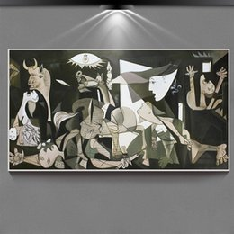 Wholesale Pablo Picasso Oil - Hand painted Pablo Picasso painting on canvas abstract oil painting World famous,Guernica ,The Women of Algiers (Version 0)