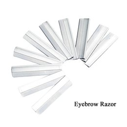 Wholesale Manual Make Up - Wholesale 10pcs lot Eyebrow Razor Stainless Steel Microblading eyebrow trimmer Brow Shaving Trimmers Make Up Tools Free Shopping