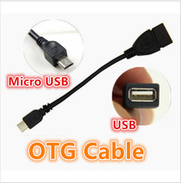 Wholesale Micro Usb Flash Phone Drive - 100% tested standard Host female USB to male Micro USB OTG Cable Adapter for Samsung Xiaomi Android Phone for For flash drive