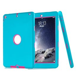 Wholesale Design Cases For Ipad - Combo Robot Design 3 In 1 iPad Case Hybrid Silicone PC High Impact Resistant Cover For iPad Pro 10.5 9.7 New Air Air2 Mini 1 2 3 OppBag