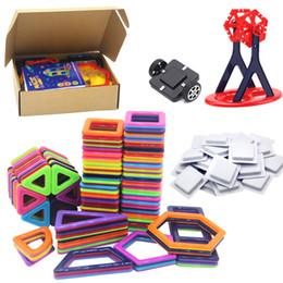 Wholesale Building Plastic - 224pcs lot Blocks 3D Magnetic Building Blocks Educational Construction Building Bricks DIY Blocks Model Toy