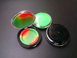 Maquillage de cire en Ligne-100pcs Acrylique conteneur de silicone 6 ml concentré de cire composent silicone conteneurs boîte qualité alimentaire ABS maquillage cas dab dabber pots outil DHL