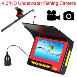 "Wholesale Ice Fishing Lcd Fish Finders - 4.3"" Color LCD Monitor 20m Cable 1000TVL Underwater Ice Sea Fishing Camera Night Vision Fish Finder IP68 high resolution cameras"
