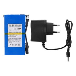 Wholesale 12v Lithium Ion Battery Cctv - .DC 12V Portable 9800mAh Li-ion Super Rechargeable li-on Battery Pack for wireless transmitter CCTV camera blue