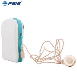 Wholesale Hearing Aid Pocket - Small Convenient Hearing Aid Aids Audience Dispositif Hearing Aid Receivers Pocket Hearing Aid S-16P for the deaf people