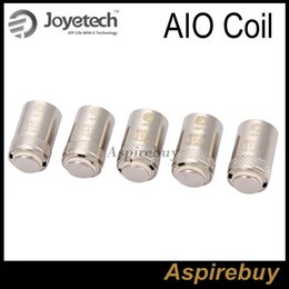 Wholesale Ego Dhl Kit - 100% Authentic Joyetech SS316 0.6ohm Coil Head Joyetech AIO Coil 0.6ohm 15-28W fit for Ego Aio Kit BF SS316 Coils 0.6ohm DHL Free Shipping