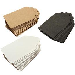bolsas de yute hechas a mano Rebajas 2016 la mejor venta 1000 unids 7x4 cm etiquetas de regalo de papel Kraft boda festoneada etiqueta marrón en blanco equipaje nuevas llegadas al por mayor envío gratuito