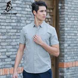 Wholesale Solid Colorful Shirt - Pioneer Camp 2016 Fashion 100% Cotton Camisa Masculina Slim Chemise Homme Short Sleeve Colorful Dot Printed Men Shirt