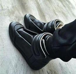Wholesale Nude Low Heels - New Designer Hip Hop High Top Men Shoes Flats Luxury Brand Hook & Loop Top-rated Leather Men Trainer Shoes Runner
