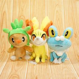 Wholesale Bubble Games - 3 Style Poke Mon Pokémon Plush Dolls Toys 15cm Children Pikachu The XY Version Fire Fox Quack Bubble Frog