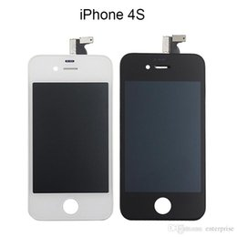 Wholesale Digitizer For 4s 4gs - Factory Price A+++ Quality For iphone 4 4G 4S 4GS GSM Full LCD Display Digitizer Touch Panel Screen Assembly With Frame Lifetime Warranty