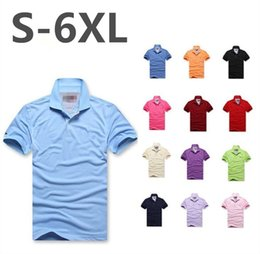 Wholesale Yellow Dress Shirt Men - Hot sell Fashion Brand LOGO Embroidery Man Polo Shirt Short Sleeve Casual Solid Color Button Slim Fit Cotton Male Dress Clothing Polo Shirt