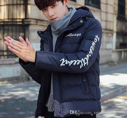 Wholesale Luxury Men Winter Jacket - Fashion Winter Down Jacket Men's Hooded Warm Brand Designs Coat Luxury Jackets For Men Coat Plus Size Cheap Sale