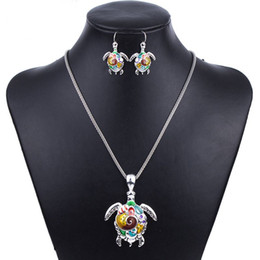 Wholesale Turtle Jewelry For Women - MS1504180 Fashion Jewelry Sets Hight Quality Necklace Sets For Women Jewelry Silver Plated Sea Turtle Unique Design Party Gifts