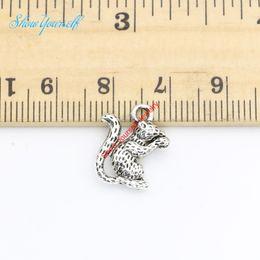 ожерелья с белками Скидка 20 шт./лот античный посеребренные белка животных подвески подвески подвески для ожерелье ювелирные изделия DIY ручной работы ремесло 16X13mm