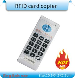 Wholesale Rfid Uid - Free shipping Upgrade Handheld 125Khz-13.56MHZ 9 frequecny RFID Duplicator Copier Writer+10pcs 125KHZ cards +10pcs 13.56MHZ IC(UID) card