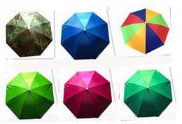 Wholesale Foldable Umbrellas - Camouflage Foldable Headwear Sun Umbrella Fishing Hiking Beach Camping Headwear Cap Head Hats Outdoor Sport Umbrella Hat Cap