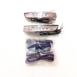 La luce del segnale principale dello specchio laterale online-Luci a specchietto retrovisore LED a LED di luglio; Indicatori di direzione laterale giallo chiaro, bianco DRL, custodia per lampada di terra per Ford Kuga Escape Ecosport