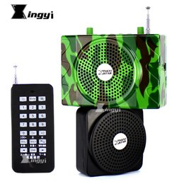Wholesale Usb Portable Device - Camouflage 38W Wireless Remote Control Outdoor Quail Hunting Decoy Bird Caller Sound MP3 Player Trap Hunt Device & Extra Speaker