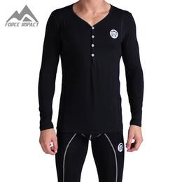 Wholesale Basic Underwear - Wholesale-Xuba Men's Two Piece Long Johns Top & Bottoms Thermal Underwear Set NEW Cotton Fall Winter Basic Warm Long John Sets XN183