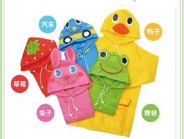 Wholesale Rain Duck - Rain Coat Kids Raincoat Rainwear Rainsuit Waterproof Auto-Duck-Bunny-Frog 5pcs lot free shipping