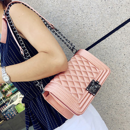 Wholesale Tartan Plaid China - New Fashion China Style Flap bag Plaid Women Handbag Chain Shoulder Bag Small PU Leather Crossbody Bag Bolsas sac femme