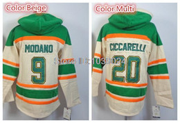 Wholesale Dino Hoodies - 2014 Cheap Price #9 Mike Modano Hoodies Jerseys Cream Good Quality 20 Dino Ciccarelli Sweat Shirts 100% Stitched Free Shipping