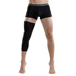 Wholesale Basketball Leg Gear - Crashproof Antislip Gym Basketball Leg Knee Long Protector Gear Injury Guard 2pcs=1pair Sweat-Absorbent Honeycomb Pad Wholesale 2501030