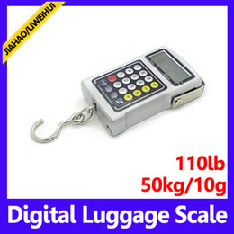 Wholesale Shipping Scale Lbs - wholesale Pocket Electronic Digital kitchen Scale 50kgx10g Hanging Lage Weight G KG LB T CA 50pcs lot free shipping