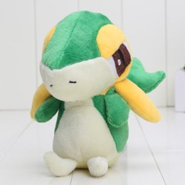 Wholesale Elf Comics - Pikachu Pocket Center Snivy elves Plush Doll Toy 14cm Soft Stuffed toy Animals & Plush peluche Snivy Children Baby Gift