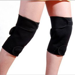 Wholesale Tourmaline Knee Therapy - 1 Pair Tourmaline Self Heating Kneepad Magnetic Therapy Knee Support Tourmaline Heating Belt Knee Massager