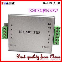 controlador amplificador Rebajas DC12V 24V 30A 360W RGB AMPLIFICADOR Controlador 3528 5050 12A / 144W RGB Amplificador de luz de tira de LED 360W luz de tira solo ampliar ampliar fábrica