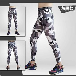 Wholesale Training Pants Pattern - Wholesale-Mens Running Camo Compression Pants Leggings Base Layer Fitness Jogging Trousers Tights Sport Training Gym Wear Camo
