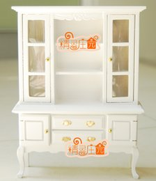 Wholesale Rement Miniature - G05-X4303 children baby gift Toy 1:12 Dollhouse mini Furniture Miniature rement wooden display cabinet bookcase 1pcs