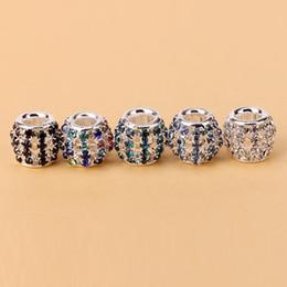 Wholesale Love Clip Pandora - 60pcs lot Authentic 925 Sterling Silver Love of My Life Clip with Clear Zirconia Heart Fits European Pandora Charm Bracelets