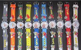 Wholesale Ultraman Blue - 3D Cartoon Lovely Kids Girls Boys Children Students Ultraman Quartz Wrist Watch Very Popular