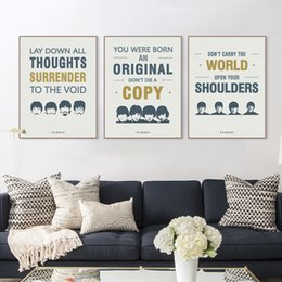 Wholesale Beatles Posters - Modern Original Vintage Pop Beatles Music Quote Canvas A4 Art Print Poster Wall Picture Living Room Bar Decor Painting No Frame