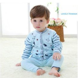 Wholesale Boys Knitwear Clothing - 2016 New Style Cotton Baby Spring Autumn Suits Knitwear Woolen Sweater For Boy Girl Kids Clothes