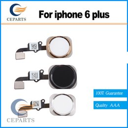 Wholesale Original Iphone Flex Cable - 100% New Original Home Button Flex Ribbon Cable Touch ID Sensor Assembly For iPhone 6 And 6 Plus 5.5 Gold Silver Black