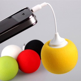 Wholesale Gifts For Mobile Phone - 3.5mm Portable Mini Sponge Ball Music Speaker for PC and Cell Phone iphone iPod MP3 Creative Gift