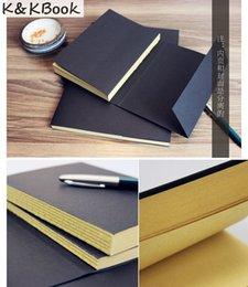 reservar páginas em branco Desconto Venda por atacado - KKBOOK Vintage Kraft Paper Blank Pages Livro de Esboço Livro Diário Livro Livro do Estudante Notebook