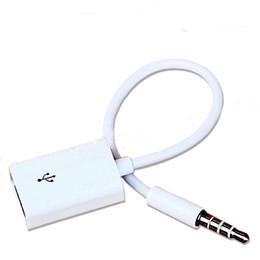 Wholesale Usb Aux Converter - Fashion 3.5mm Male AUX Audio Plug Jack To USB 2.0 Converter Cord Cable Car MP3 GSCP2141