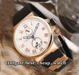Wholesale Marine Stainless Watch - Super Clone Watch Marine Chronometer Manufacture Ref: 1185-122-3 41 Mens Watch Automatic Rose Gold Ulysse Cheap Watches Rubber Strap Watch