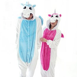 Wholesale Cartoon Onesies For Adults - New Flannel Unicorn Pijama Cartoon Cosplay Adult Unisex Homewear Cute Onesies for adults animal Pajamas Women pajama unicornio