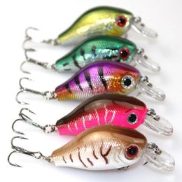 Wholesale Walleye Lures - Fishing Lure Crankbait Hard Bait Fresh Water Shallow Water Bass Walleye mix color 5.5cm 8.5g