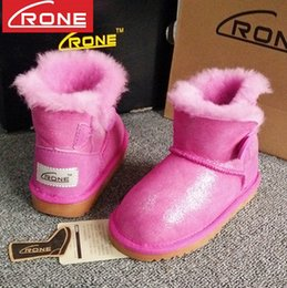 Wholesale Girls Red Waterproof Snow Boot - Girls boots High-quality Kids Boys girls baby brand Fur one warm snow boots fashion children waterproof Students Snow Winter boots T5035