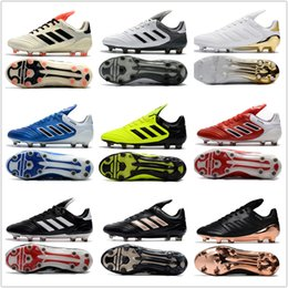 Wholesale Cheap Flat Brown Boots - cheap 2017 mens adidas Copa 17.1 FG soccer shoes football boots lows men soccer cleats turf futsal Free shipping