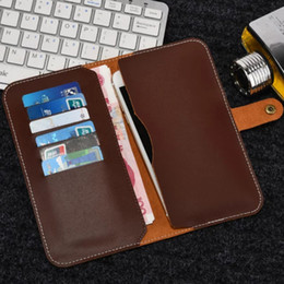 Wholesale Option Pockets - Six Card Pocket Genuines Leather Cases For Samsung S7 Plus Cell Phones Wallet Cases Hand Made Five Color Option