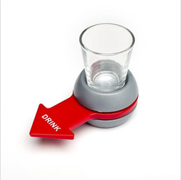 Wholesale Wholesale Drinking Games - 2017 new DIY creative Arrow pointer wheel family Drinking entertainment supplies holiday party Cup games bar tool wholesale free shipping